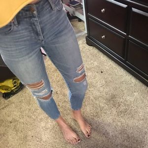 Abercrombie and Fitch Ripped Skinny Jeans